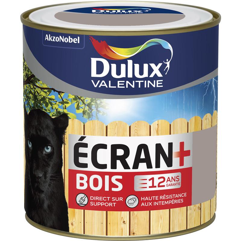 DULUX VALENTINE ECRAN+ BOIS TERRE CENDRÉE - 0,5 L