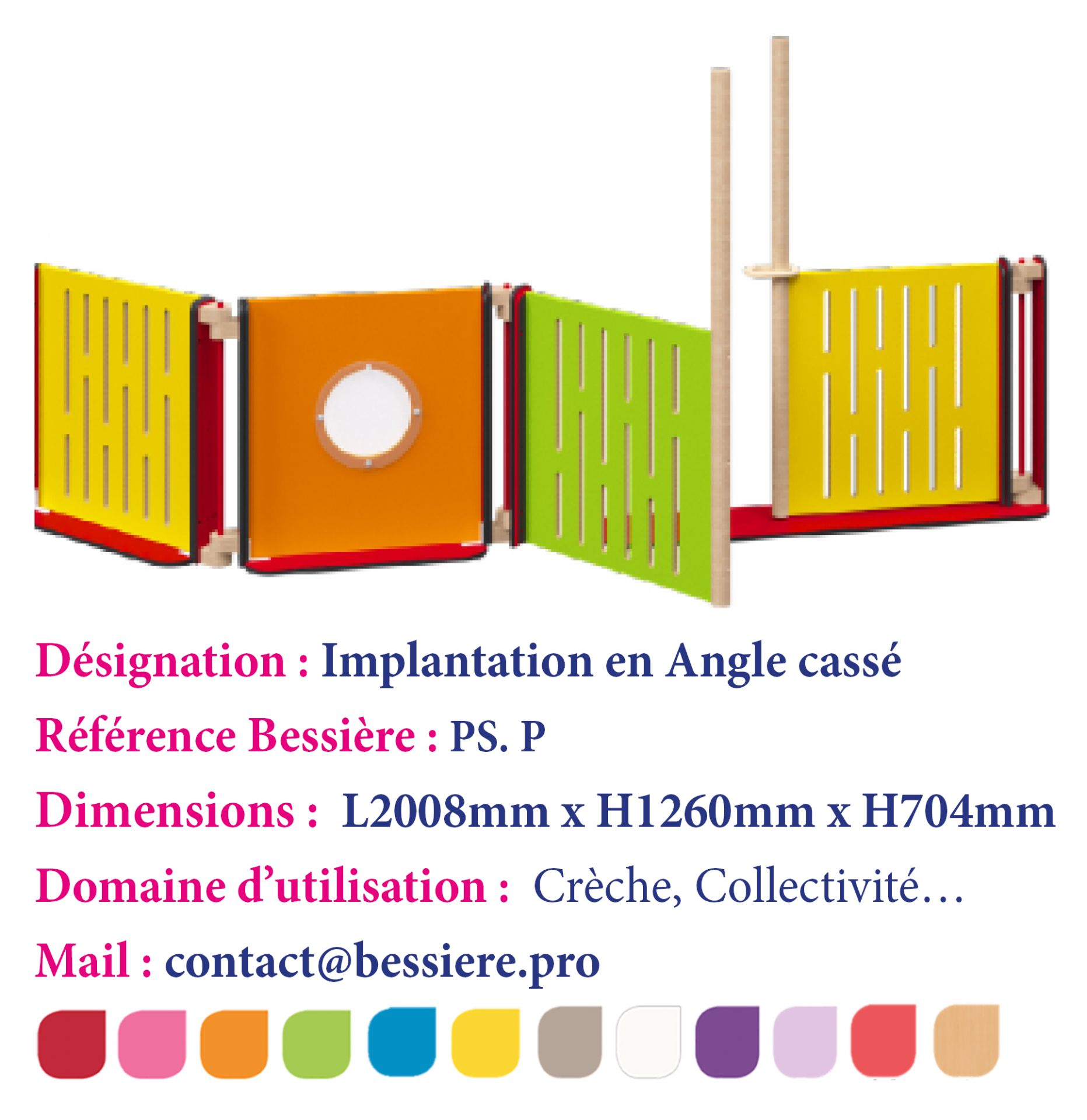 Implantation en angle cassé