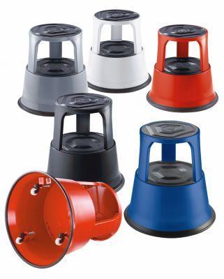 marchepied roulant hauteur en charge 410 mm en t le d 39 acier rouge comparer les prix de. Black Bedroom Furniture Sets. Home Design Ideas