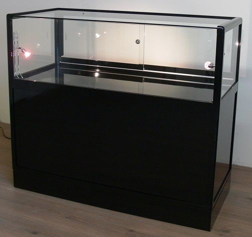 vitrine comptoir noir modele tourmaline. Black Bedroom Furniture Sets. Home Design Ideas