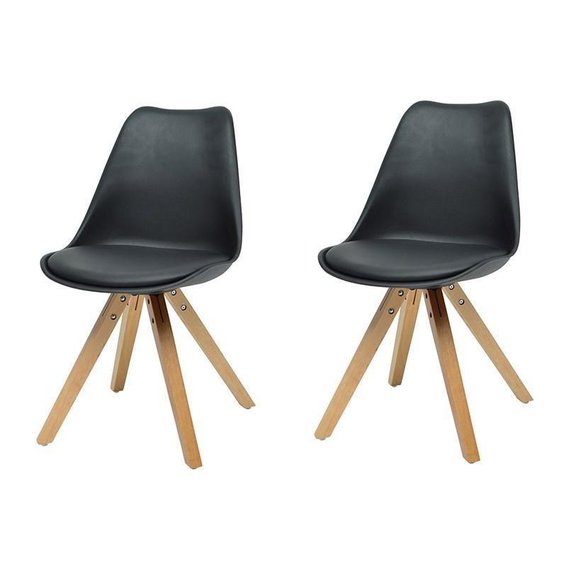 prix scandinave ulrika paris 83cm 2 noir de chaises Lot ZOXuTiPk