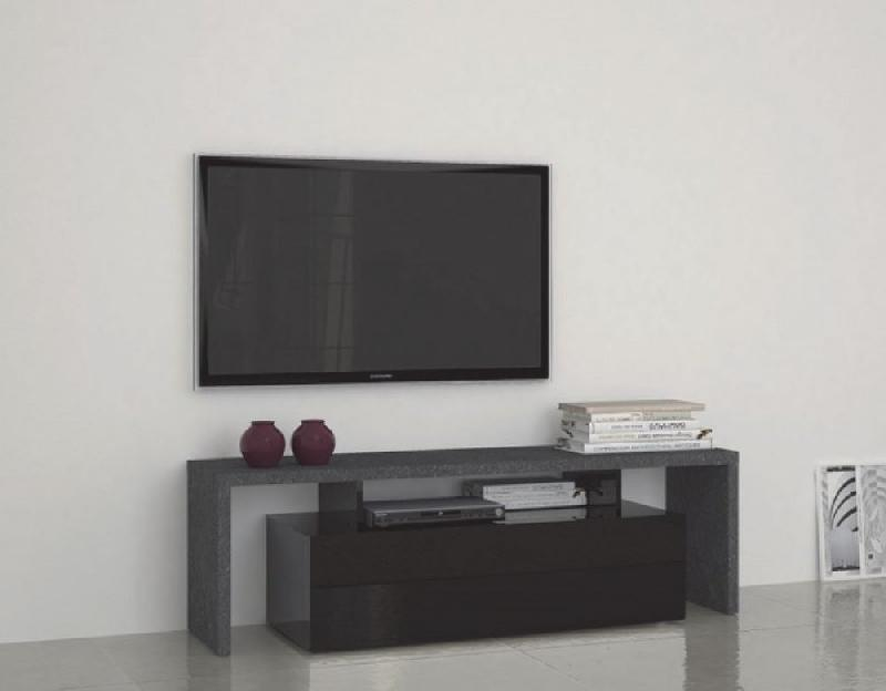 MEUBLE DESIGN TV TREVISO 2 NOIR