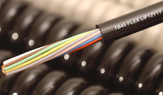 Cable spiralé non blindé tpe/pur lif12y11y