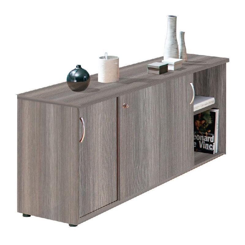 meuble bas portes coulissantes h 72 cm grande largeur c dre comparer les prix de meuble bas. Black Bedroom Furniture Sets. Home Design Ideas