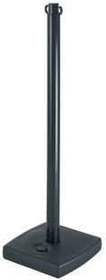 Poteau PVC Noir sur socle à lester 4kg - 2001113