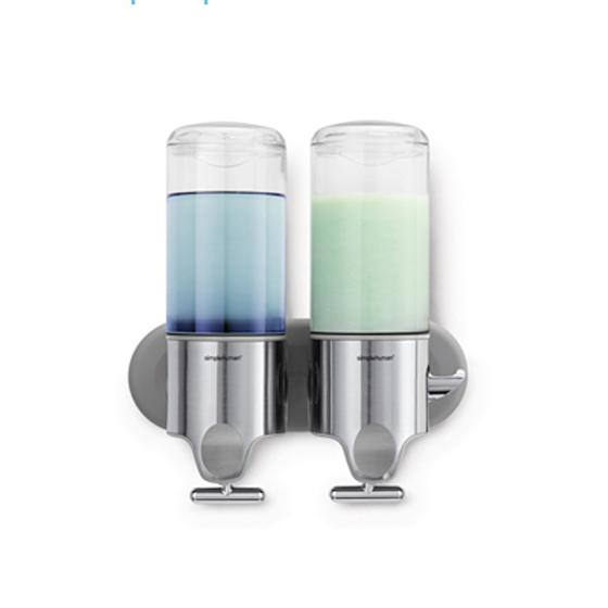 Distributeur savon shampoing duo salle de bain