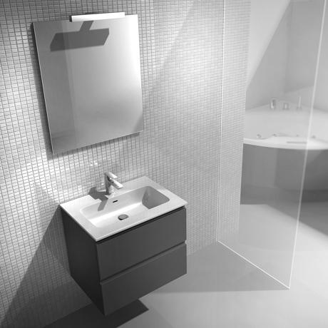 Meuble de salle de bain suspendu 60cm collection next for Meuble salle de bain 60cm