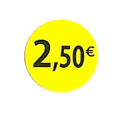 étiquette adhésive  2.50eur