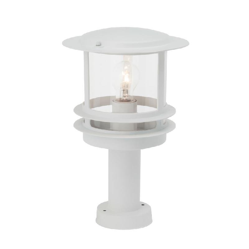 Hollywood borne d 39 ext rieur blanc h36cm luminaire d for Luminaire exterieur blanc