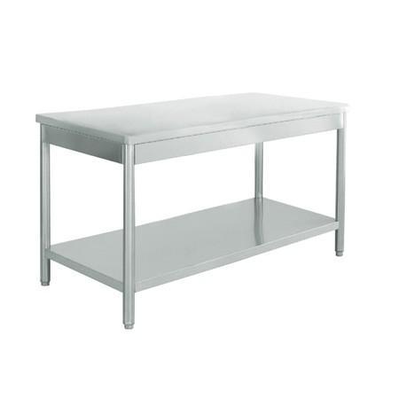 table inox centrale 1900x700x900 mm avec etagere. Black Bedroom Furniture Sets. Home Design Ideas