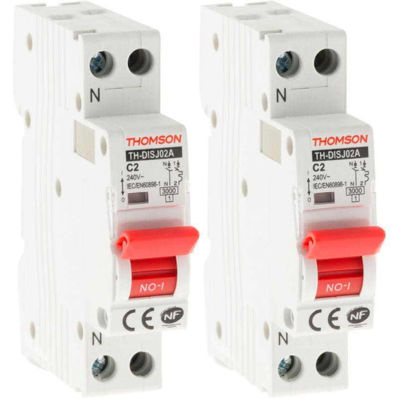 Lot de 12 Disjoncteurs /à connexions automatiques PH+N Thomson 10A NF