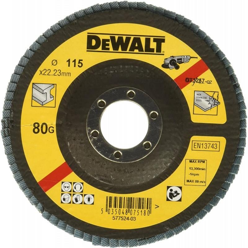 Dewalt dt3257-qz disque a lamelles grain 80 ø 115mm 22.2