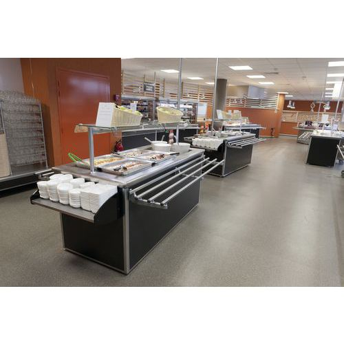 SALAD'BAR RECT 4GN1/1 CUVE RÉFR GROUPE FROID STAT PROD 80MM