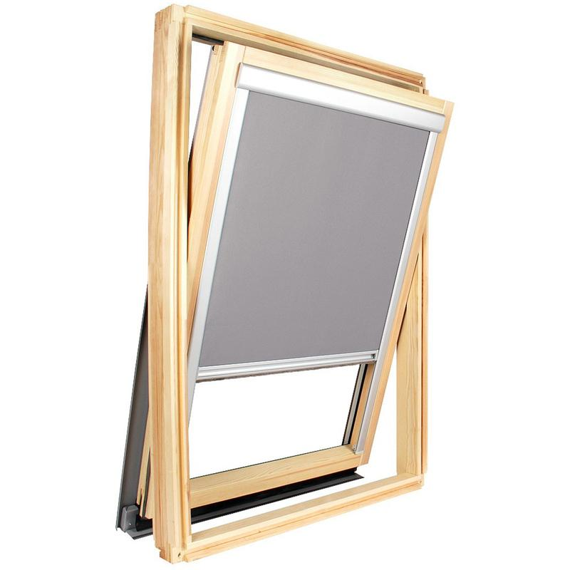 store occultant gris pour fen tre de toit velux sk06 cadre alu anodis orea comparer les. Black Bedroom Furniture Sets. Home Design Ideas