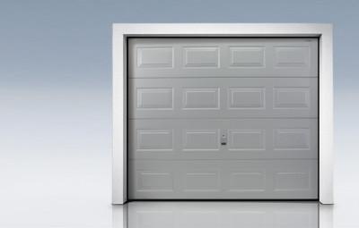 porte de garage sectionnelle a refoulement plafond euroclassic