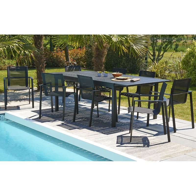 Table d 39 ext rieur dcb garden achat vente de table d for Table exterieur rallonge aluminium