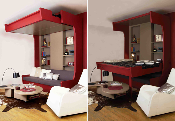 canape lit cosy lift plateau mobile espace loggia. Black Bedroom Furniture Sets. Home Design Ideas