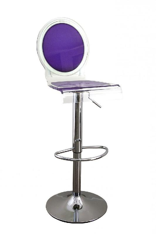 Tabouret chaise de bar sixteen violet plexiglass acrila for Chaise de bar violet