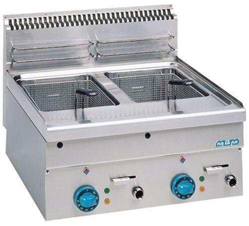Friteuse mbm 600 electrique ou gaz friteuse 2 x 10 litres for Cuisine gaz ou electrique