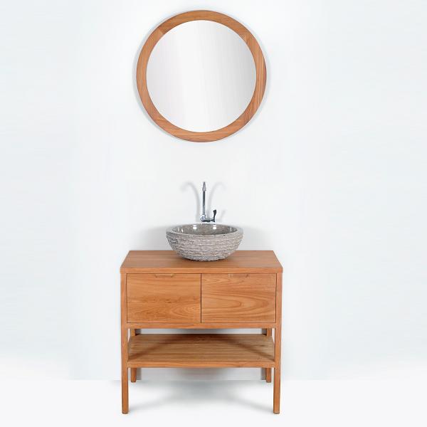 meuble salle de bain sveg en teck largeur 80 cm comparer les prix de meuble salle de bain sveg. Black Bedroom Furniture Sets. Home Design Ideas