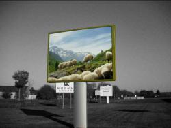Panneau publicitaire monopied urbain for Fabricant panneau publicitaire exterieur