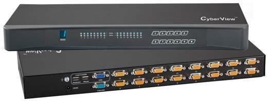 CV-S801 / CV-S1601- COMMUTATEURS KVM 8 PORTS VGA / USB-PS2 - 1,8/3/4,5 M