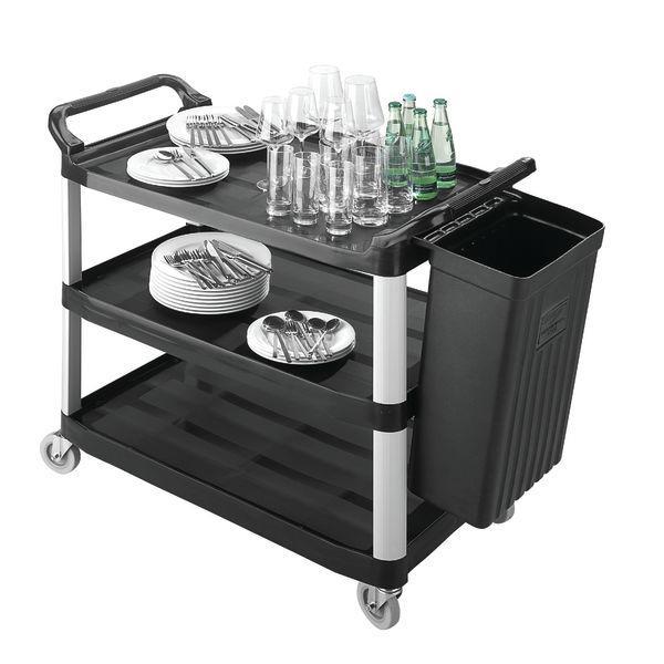chariot de service hubert noir. Black Bedroom Furniture Sets. Home Design Ideas