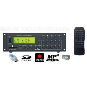 LECTEUR ENREGISTREUR MP3 COMPACT - 12 V - EM-020R RONDSON