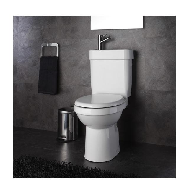 ensemble wc poser c ramique 2 en 1 lave mains int gr sortie verticale planetebain. Black Bedroom Furniture Sets. Home Design Ideas