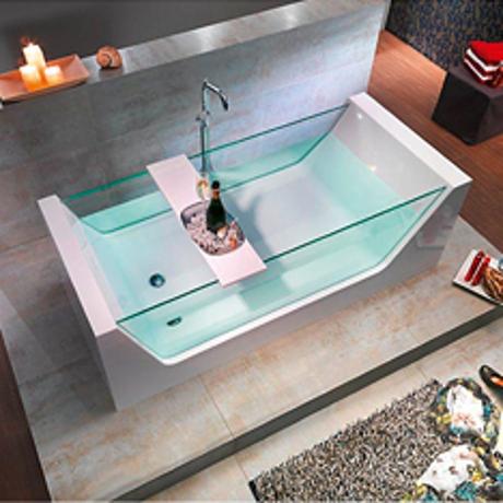 baignoire ilot acrylique et verre 180x80cm pureglass comparer les prix de baignoire ilot. Black Bedroom Furniture Sets. Home Design Ideas