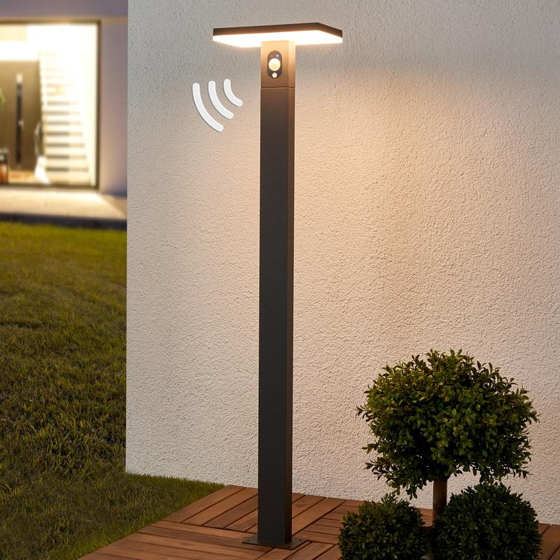 borne lumineuse capteur josa led lampe solaire d tecteur de mouvement lampenwelt comparer. Black Bedroom Furniture Sets. Home Design Ideas