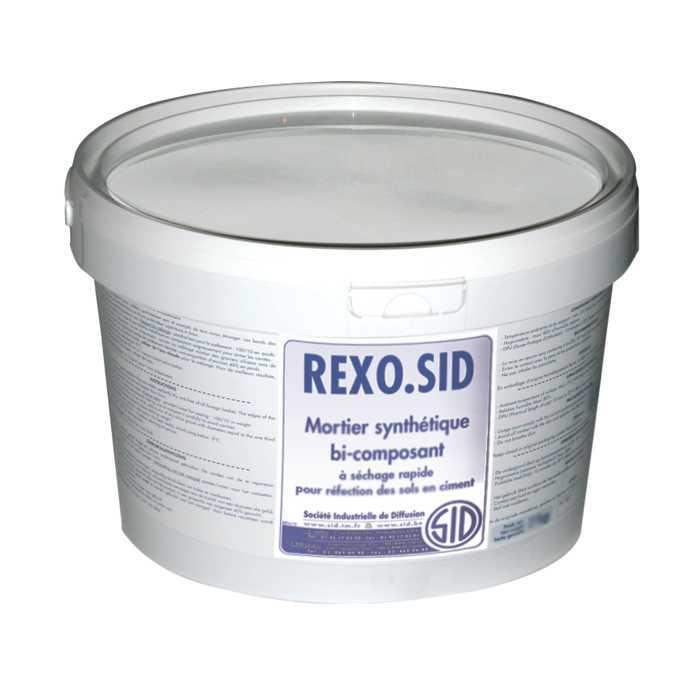 Mortier synthétique bi-composant à séchage rapide pour réfection des sols en ciment rexo.sid