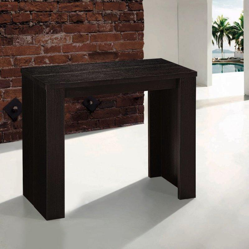console extensible en table repas elasto wenge. Black Bedroom Furniture Sets. Home Design Ideas