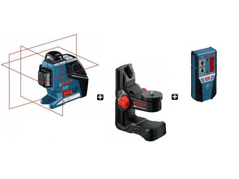Laser bosch pro plans multifonctions gll 3 80 p lr2 - Laser en croix bosch ...