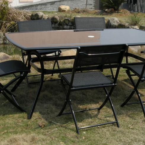Salon de jardin comparez les prix pour professionnels sur page 1 for Quelle chaise pour table en verre
