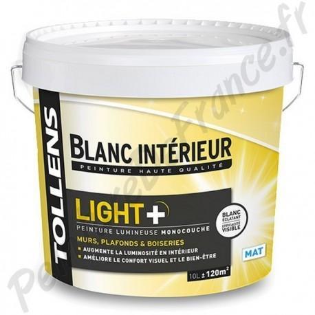 Peinture Tollens Lumineuse Light Mat Blanc 10l
