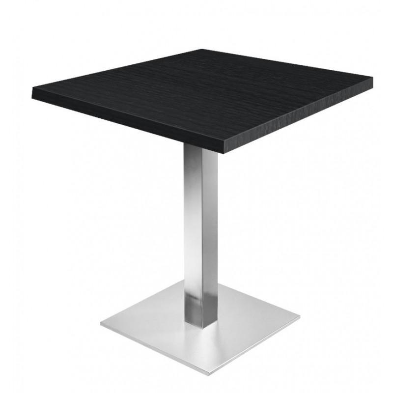table bistro noir 70 x 70 cm support de table en acier h72cm professionnel. Black Bedroom Furniture Sets. Home Design Ideas