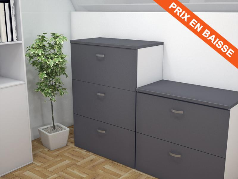 armoire silver pour dossiers suspendus l100 pas cher. Black Bedroom Furniture Sets. Home Design Ideas