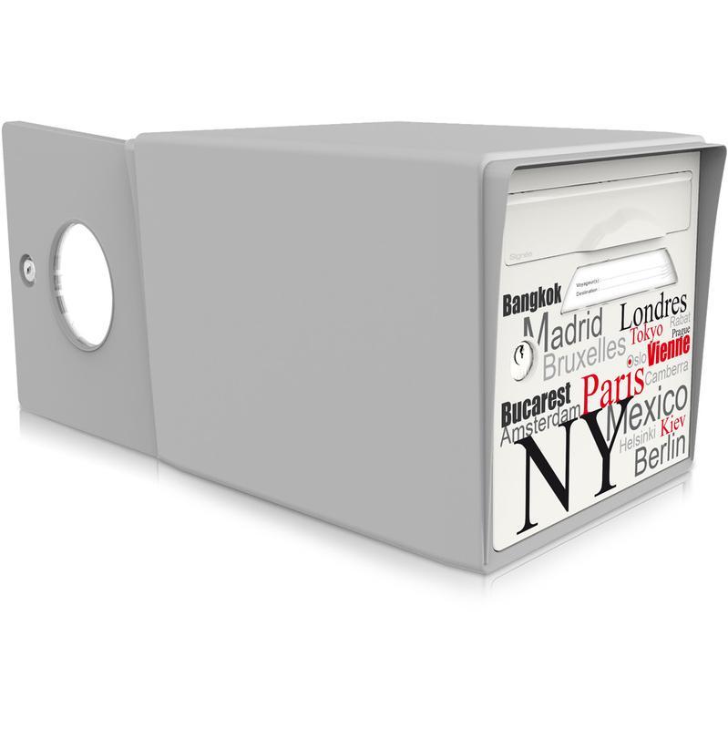 boite aux lettres 2 portes sign e comparer les prix de. Black Bedroom Furniture Sets. Home Design Ideas