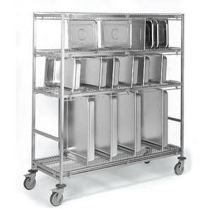 Chariots porte assiettes et portes plateaux tous les for Feuille acier inoxydable pour cuisine