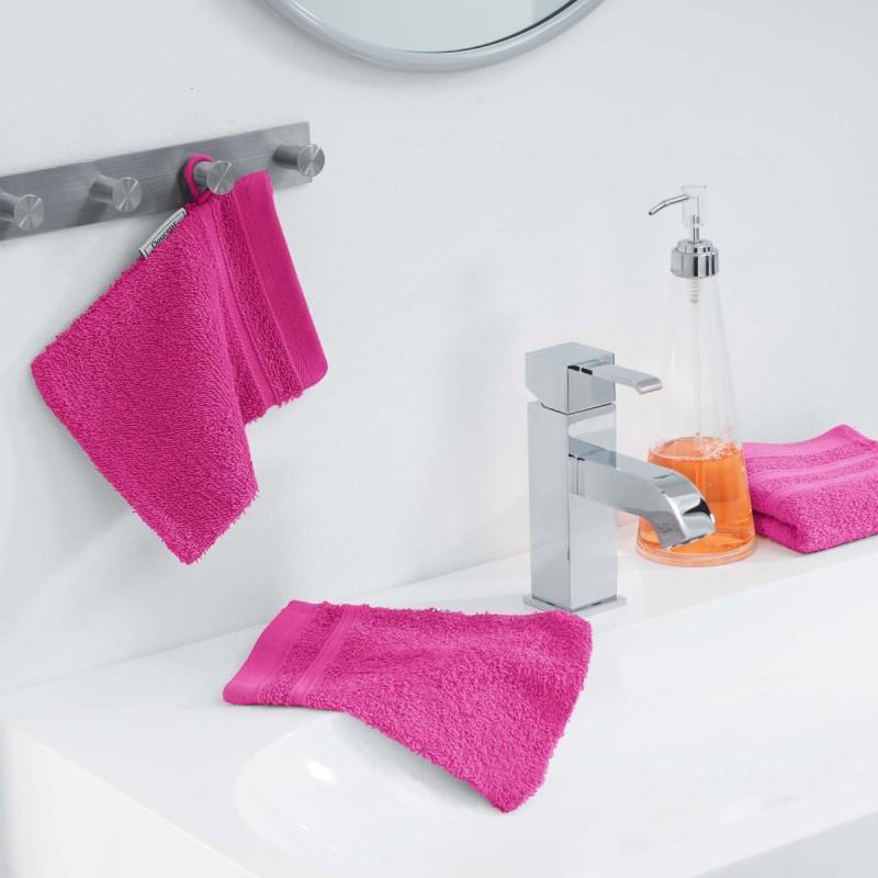 Lot de 2 gants de toilette vitamine 15x21cm fuchsia - paris prix