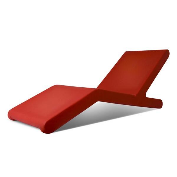 Photos chaises longues de jardins page 1 - Bain de soleil rouge ...