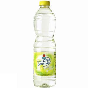 U eau de source aromatisée citron citron vert sans sucre 1,5 l