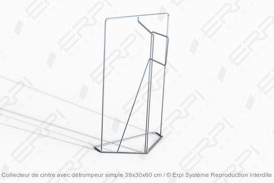 Collecteur de cintre avec détrompeur simple 39x30x60 cm - collecteur0001z