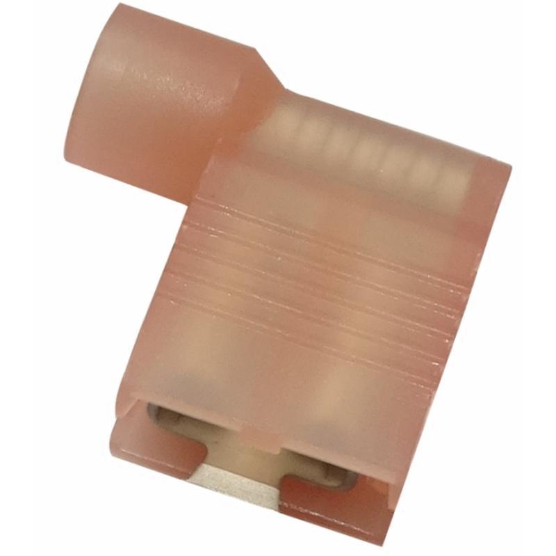 AERZETIX 100x Cosse électrique Femelle Plate 6.3mm 0.8mm 1.5-2.5mm2 isolée Bleu