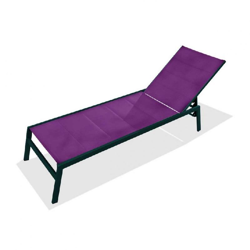 Chaise longue dcb garden achat vente de chaise longue for Bain de soleil chaise longue