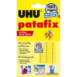 Uhu pastilles adhésives prédécoupées, réutilisables, patafix