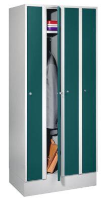 WOLF ARMOIRE PEU ENCOMBRANTE - 4 COMPARTIMENTS, LARGEUR ARMOIRE 800 MM - VERT OPALE RAL 6026