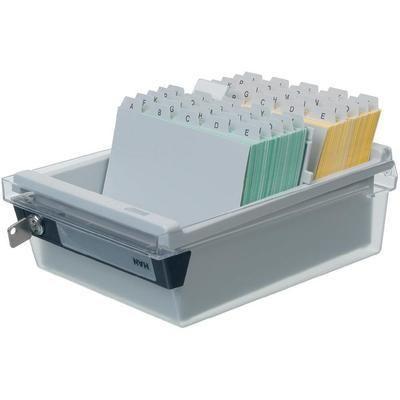 BOX DE RANGEMENT POUR FICHES GRIS/BLANC HAN DIN A5