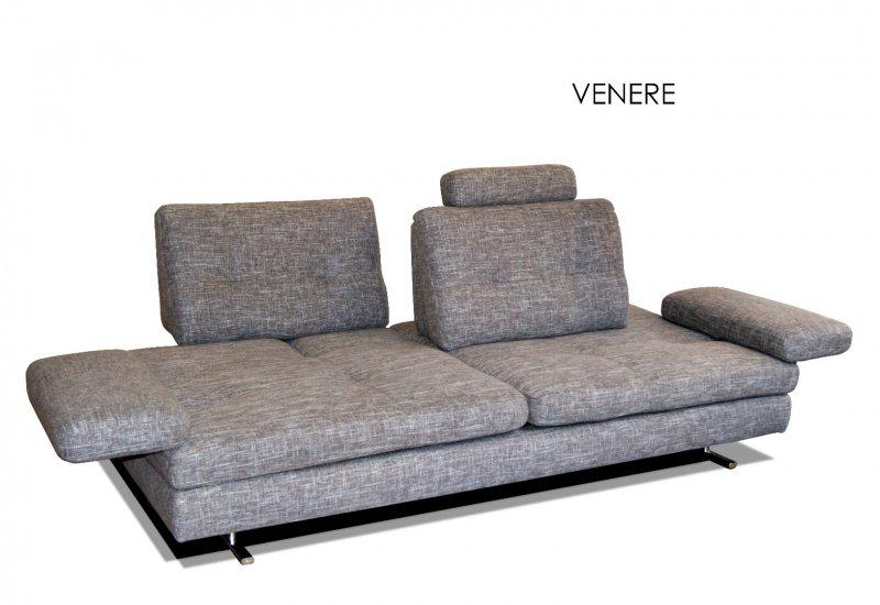canape 2 4 places venere de nicoletti home tissu gris. Black Bedroom Furniture Sets. Home Design Ideas